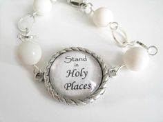 YW CAMP CRAFT: Could adapt to the 2014 theme...Stand in Holy Places YW LDS Theme 2013 Silver and Pearls