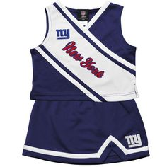 New York Giants Preschool Girls 2-Piece Cheerleader Set - Royal Blue - $35.99
