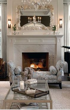White themed Tuscan style interior