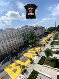 Washington's new Black Lives Matter street mural is captured in aerial image Black Lives Matter Quotes, Street Mural, Aerial Images, Life