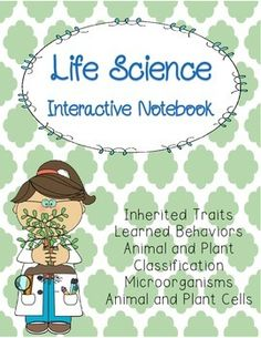 This interactive notebook includes:   ~23 pages of student notes ~Pictures of finished pages ~A few of the pages include alternatives to fit your needs  This interactive notebook includes information about inherited traits, heredity, learned behaviors, animal and plant cells, animal and plant classification, single-celled organisms, and microorganisms.