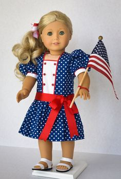Red White and Blue by AnnasGirls on Etsy, $45.00