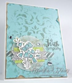 Handmade sympathy card by Monika Davis using Framed Florals and the coordinating Bluebells Die from Verve. #vervestamps