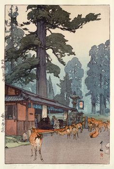 beautiful wood-block prints by hiroshi yoshida 19