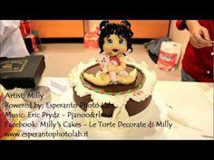 Cake Design - creazione torta e personaggio 3D - YouTube