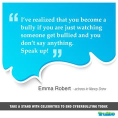 Take a stand with celebrities to end #Cyberbullying today! #EmmaRoberts