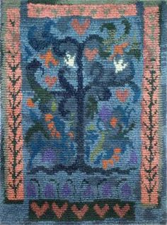 Paratiisi ommellen 125 x Tree Tapestry, Tapestry Weaving, Rya Rug, Wool Rug, Modern Tapestries, Art Textile, Abstract Pattern, Rugs On Carpet, Quilt Patterns