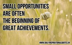 Small opportunities are often the beginning of great achievements. ~ Anonymous    mdsbdc.umd.edu  #mdsbtdc #smallbusiness #entrepreneur #startup #inspiration