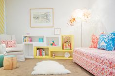 Don't have extra square feet to devote to a full-time playroom? Check out these fun and stylish solutions for adding a play area to your kid's bedroom, a home office and more.