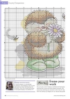 Just For You (Country Companions) From The World Of Cross Stitching N°213 2014 3 of 4