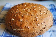 Ψωμί με αλεύρι ζέας και κριθαρένιο , το ψωμί των αρχαίων Ελλήνων ! Greek Bread, Croissant Donut, Bread Bun, Bread And Pastries, Greek Recipes, Pain, Food To Make, Cooking Recipes, Diet Recipes