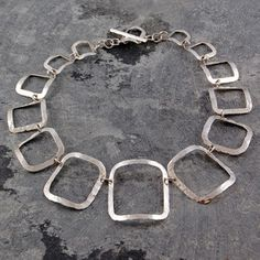 Square Necklace Silver, 190€, now featured on Fab.