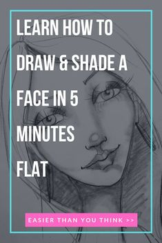 Have you always wanted to learn how to draw & shade a whimsical female face? It's easier than you think, once someone shows you how! Beginners, grab a pencil and a piece of paper for the step by step tutorial. I'll explain how to sketch in gridlines to ge Shading Drawing, Drawing Tips, Beginner Drawing, Drawing Faces, Drawing Tutorials, Drawing Ideas, Weird Drawings, Copic Drawings, How To Shade Drawings