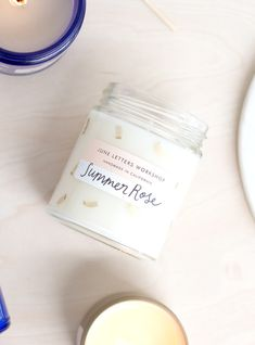 June Letters Studio Candle Packaging