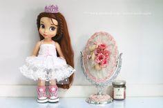 "White dress 001 .Doll clothes for Disney animator dolls 16""."
