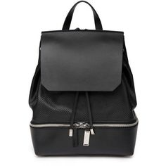 Costume National Cut-Out Leather Backpack ($670) ❤ liked on Polyvore featuring bags, backpacks, accessories bags, black, leather bags, genuine leather backpack, knapsack bags, black rucksack and leather knapsack Check out related backpacks on Fanatic Leather Store.