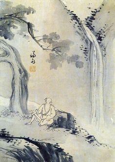 (Korea) 수하관폭 by Gyeomjae Jeong Seon (1676-1759). ca 18th century CE. color on paper.