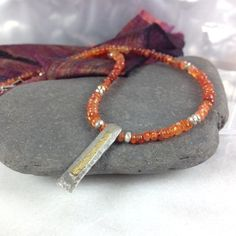Carnelian ,silver and 18ct gold necklace £120.00