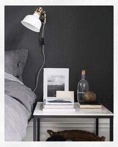 Dark grey. Till er som undrat om väggfärgen, den heter Anis från @alcrotrend #workwork #interior #styling #ikea #livethemma #DIY #Vittsjö #marble #tiles #sinnerlig #ranarp #darkgrey #wallcolour #alcro #anis @saramedinalind
