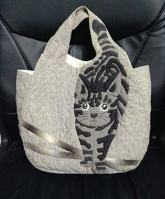 Free Shipping Handmade Quilts Bag, Tote, Vintage bag, Cat bags, Shoulder bag, Quilt tote, Woman purse, Handmade quilts,