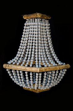 #woodenchandelier #woodenbeads #grey #lighting #uniquelights #pendantlight Wooden Chandelier, Beaded Chandelier, Unique Lighting, Wooden Beads, Pendant Lamp, Home Gifts, Interior Decorating, Ceiling Lights, Coffee