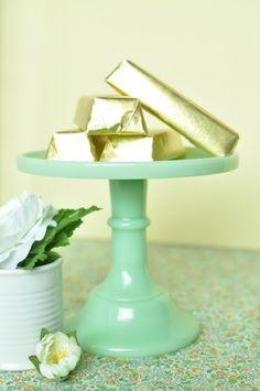 Elegantly fun St. Patrick's Day Gold Bar Treats.