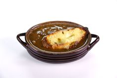 Rich Onion Soup with Melted Gruyere