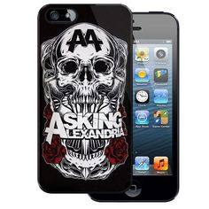 Asking Alexandria Cover Band Skull Rock Plastic Case for Apple iPhone ($10) ❤ liked on Polyvore featuring accessories, tech accessories, phone cases, phones, bands and technology
