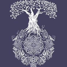 Yggdrasil Tree of Life is a Tank Top designed by TeeNinja to illustrate your life and is available at Design By Humans