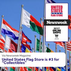 """Newsweek Magazine: United States Flag Store is for """"Collectibles"""" Military Flags, City Flags, Flag Store, Nautical Flags, Major Holidays, Flag Decor, New Week, American Flag, Banners"""