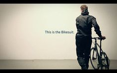 The Bikesuit. One piece bicycle rain suit. by Smart Products. The Bikesuit is a one piece suit made for cycling, designed to protect the cyclist from bad weather and dirt, from top to toe.