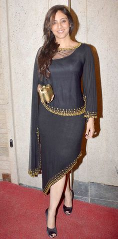 Tabu at Vikas Bahl's bash. #Bollywood #Fashion #Style #Beauty