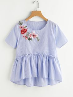 Online shopping for Applique Smock Top from a great selection of women's fashion clothing & more at MakeMeChic.COM.
