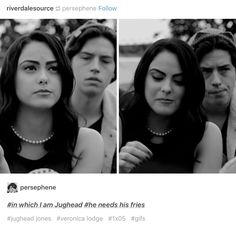Jughead and Veronica— Riverdale