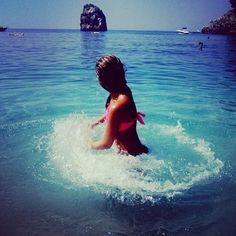 Splashing in the water..
