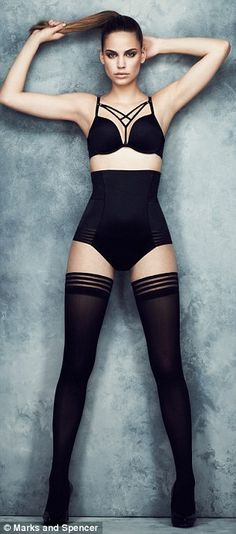 Risqué: M&S's collection of basques, bras and knickers takes its cue from Agent Provocateur