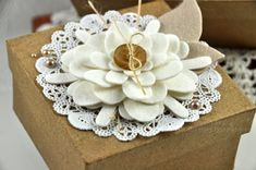 Felt flowers - idea for gift package toppers by Dawn McVey #PTI