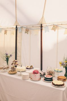 Pretty English Summer Garden Wedding Cake Dessert Table http://www.weheartpictures.com/