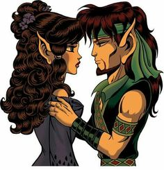 Moonshade and Strongbow from #ElfQuest by Wendy and Richard Pini. www.elfquest.com