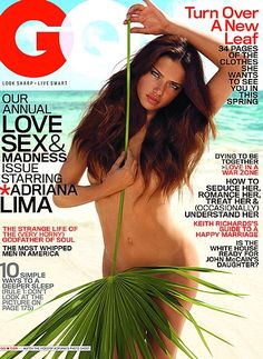 Adriana Lima For GQ, April 2008