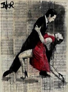 "Saatchi Art Artist Loui Jover; Drawing, ""midnight tango"" #art"