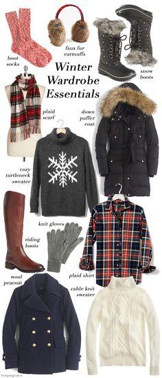 Winter Wardrobe Essentials | List of winter fashion necessities