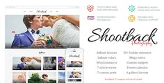 Shootback - Retina Photography WordPress Theme by upcode  This is a theme made by TouchSize, a well-known premium themes and plugin creator www.touchsize.com. The company is a leading Wo