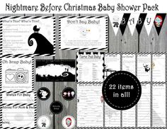 Baby Shower Mad Lib - The Nightmare Before Christmas - Baby Shower ...