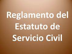 Reglamento del Estatuto de Servicio Civil