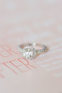 Beautiful engagement ring: http://www.stylemepretty.com/little-black-book-blog/2014/10/03/blush-pink-georgia-garden-wedding/ | Photography: Brita Photography - http://britaphoto.com/