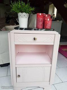 chevet annee 40 beige rose marbre