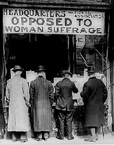 Opposition to Women's Suffrage ... Conservative white men against women's rights.  Things haven't changed much.
