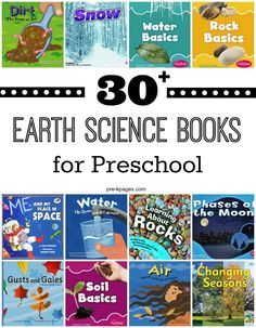 Earth Science Books for Preschool. Do you have a hard time finding age-appropriate science books for preschool and kindergarten? Me too! Here's a great list of age-appropriate earth science books preschool and kindergarten kids will love AND understand!
