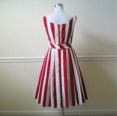 striped swing party dress by audreyandgrace on etsy